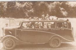 Très Beau Plan D'un Autocar En 1937 - Superbe Carte Photo - Bus & Autocars