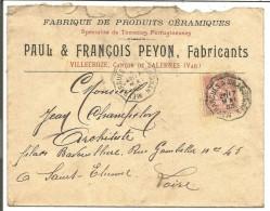 AMBULANT DE MEYRARGUES à DRAGUIGNAN SUR LETTRE A EN TETE DU 17/5/1903 - Marcophilie (Lettres)