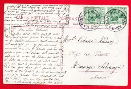 Cachets De Moulins ( Kr. Metz) Du 02.03.1909 Sur CP Enfant, Bouquets - Storia Postale