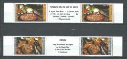 "Polynésie YT 261A Et 262A Paire "" Plats Polynésiens "" 1986 Neuf** BDF - French Polynesia"