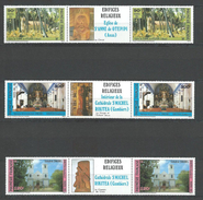 "Polynésie YT 243A à 245A Paire "" Edifices Religieux "" 1985 Neuf** - French Polynesia"