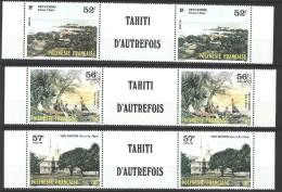 """Polynésie YT 256A à 258A Paire """" Tahiti D'Autrefois """" 1986 Neuf** BDF - French Polynesia"""