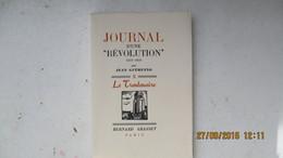 JEAN GUEHENNO / 1 Des 10 Sur VELIN D'ARCHES / JOURNAL D'UNE REVOLUTION 1937-1938 / ENVOI / 1939 / E.O. - Autographed
