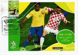 ALLEMAGNE 2006 - Coupe Monde Football - Berlin 13 Juin BRESIL CROATIE