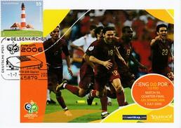 ALLEMAGNE 2006 - Coupe Monde Football - Gelsenkirchen 1er Juillet ANGLETERRE PORTUGAL