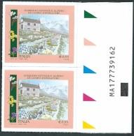 Italia 2015; Giardino Botanico Alpino Di Campo Imperatore:  Parchi, Giardini, Orti. Coppia Con Codice Alfanumerico. - Codici A Barre