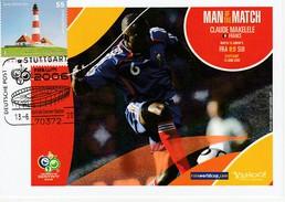 ALLEMAGNE 2006 - Coupe Monde Football - STUTTGART 13 Juin FRANCE SUISSE Claude MAKELELE