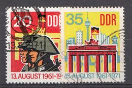 DDR 1971  Mi.nr. 1691-1692 10.Jahre Berliner Mauer  OBLITÉRÉS-USED-GEBRUIKT - Usados