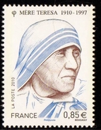 2010 - FRANCIA / FRANCE - CENTENARIO DELLA NASCITA DI MADRE TERESA - CENTENARY OF THE BIRTH OF MOTHER TERESA. MNH - Francia