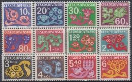 CZECHOSLOVAKIA Porto 92-103,unused,hinged - Postage Due