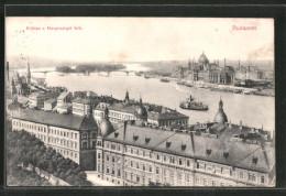 AK Budapest, Kilatas A Margitsziget Felé, Dampfer - Hungría
