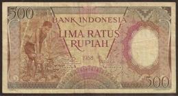 INDONESIA. 500 Rupiah 1958. Pick 60. - Indonesia