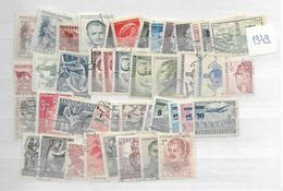1949 USED Czechoslovakia Year Collection - Used Stamps