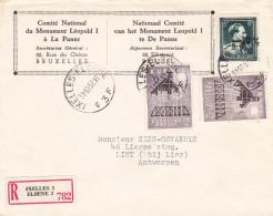 N° 724 P / Lettre Recommandée D' IXELLLES Vers Anvers 31-10-58 - 1946 -10%