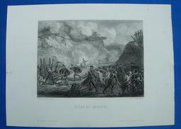 Vers 1845, Bonapartiste : GRAVURE SIEGE DE DANTZIG - E. Charpentier Del , Beyer & Outhwaite Sculpt - Prints & Engravings
