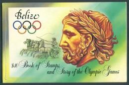 1984 Belize Giochi Olimpici D´estate A Los Angeles Booklet Complete MNH** Lu6 - Belize (1973-...)