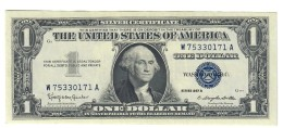 Usa 1 $ 1957 B Bollino Blu Q.fds   LOTTO 1520 - Small Size - Tamaños Pequeños (1928-...)