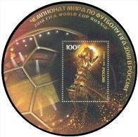 RUSSIA 2015 Block MNH ** VF WORLD CUP 2018 FOOTBALL SOCCER WC SPORT 2000