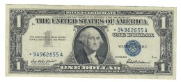 Usa 1 $ 1957  Bollino Blu Circulated Serie Sostitutiva Asterisco LOTTO 1529 - Small Size - Tamaños Pequeños (1928-...)
