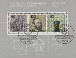 West-Duitsland - Weltpostkongress, Hamburg - UPU-  Gebruikt/gebraucht/used - M Blok 19 - [7] West-Duitsland