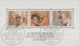 West-Duitsland - Nobelpreisträger Deutschsprachiger Literatur - Used - M Blok 16 - [7] West-Duitsland