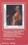 """2013 - ITALIA -  TESSERA FILATELICA  """"PATRIMONIO ARTISTICO CULTURALE ITALIANO"""" CENTENARIO DELLA NASCITA DI MATTIA PRETI - Tarjetas Filatélicas"""