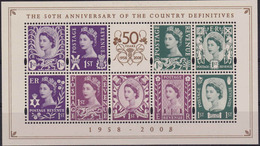 Great Britain Country Stamps 50th Anniversary Wildings Mini Sheet MNH ** Scotland Wales Northern Ireland - Ohne Zuordnung