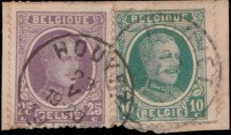 Belgique 1921. ~ YT 194/97 Cachet Rond - Albert 1er