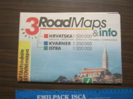 Z4 LIBRETTO MAPPA MAP STRADALE CROAZIA HRVATSKA 2008 - Carte Stradali