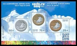 RUSSIA 2014 Block MNH ** VF SOCHI CAUCASUS WINTER OLYMPIC GAMES XXII MEDALS MEDAL SPORT