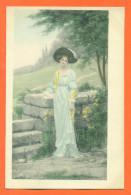 """CPA Lithographie Illustrateur SYDNEY KENDRICK """" Femme Elegante Avec Chapeau """" - Illustrators & Photographers"""