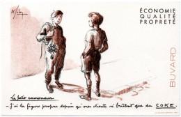 Buvard Coke, Charbon. Le Petit Ramoneur. - Vloeipapier