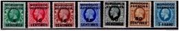 Morocco Agencies, 1917-24, King George V, Scott# 402-409, MLH - Morocco Agencies / Tangier (...-1958)