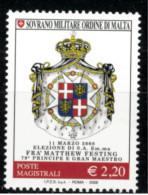 *B10* -  SMOM 2008 - Elezione Di S.A. Em.ma Frà Natthew Festing 79° Principe E Gran Maestro - 1 Val.  MNH** - Perfetto - Malte (Ordre De)