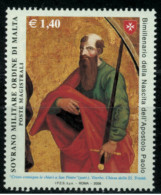 *B10* -  SMOM 2008 - Bimillenario Nascita Apostolo Paolo Particolare Dipinto - 1 Val.  MNH** - Perfetto - Malte (Ordre De)
