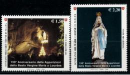 *B10* -  SMOM 2008 -  150° Anniversario Apparizioni Madonna Di Lourdes - 2 Val.  MNH** - Perfetti - Malte (Ordre De)