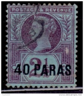 British Offices Abroad, Turkish Empire 1887, 10pa On 2 1/2d Surcharge, Scott# 4, Used - Great Britain (former Colonies & Protectorates)