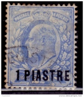British Offices Abroad, Turkish Empire 1906, 1pi On 2 1/2d Surcharge, Scott# 4, Used - Great Britain (former Colonies & Protectorates)