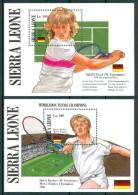 1987 Sierra Leone Tennis Boris Becker  Steffi Graf  Set 2 Block MNH** Sie - Sierra Leone (1961-...)