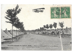 Mailly Escadrille Aérienne Du Camp De ... - Officier Aviateur Partant En Reconnaissance Sur Son Biplan Farman - Other Municipalities