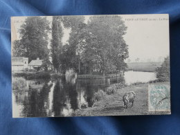 Pont Authou  La Risle - Vache - Ed. Lecot - Circulée 1906 - L278 - Francia