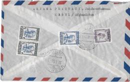 KABUL - GENF → Einschreibebrief 1956 ►Buntfrankatur◄ - Afghanistan