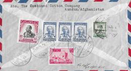 KUNDUZ - GENF → Einschreibebrief 1955 ►Mischfrankatur◄ - Afghanistan