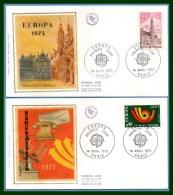 FDC Silk Soie Europa 1973 N° 1752 /3 - FDC