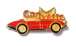 Pin's CHEVROLET CORVETTE Rouge - F802A - Corvette