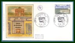 FDC Silk Soie Centre Téléphonique Tuileries 1973 N° 1750 - FDC