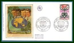 FDC Silk Soie Académie Sciences D' Outre Mer 1973 N° 1760 Cœur Heart - FDC