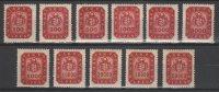 Hungary 1946. Inflation - Millpengo - Complete Set MNH (**) Michel: 905-915 / 2.20 EUR - Ungarn