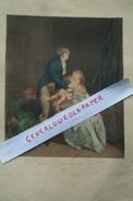BELLE GRAVURE  BOILLY -G. VIDAL - COULEUR MILIEU XIXE - NOUS ETIONS DEUX NOUS VOILA TROIS-FAMILLE ENFANT- BEBE- - Prints & Engravings