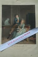 BELLE GRAVURE  BOILLY -BONNEFOY  - COULEUR MILIEU XIXE - QU' ELLE EST GENTILLE MAMAN-FAMILLE ENFANT- BEBE- - Prints & Engravings